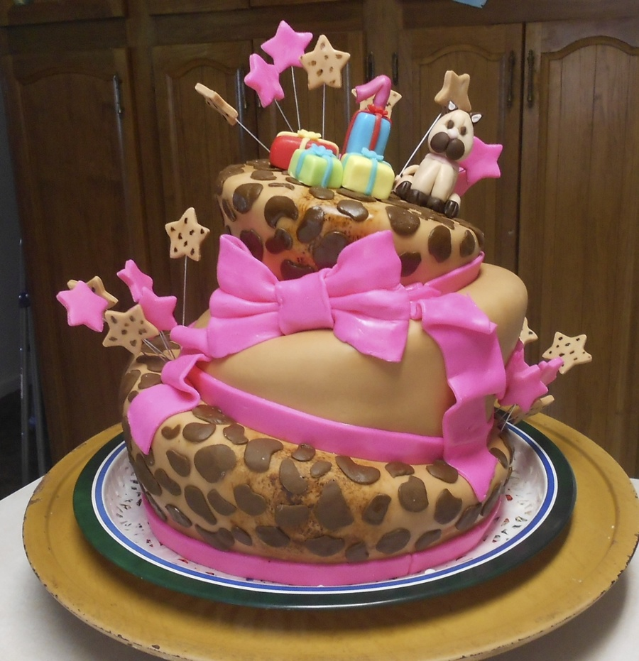 Lepeord Topsyturvy Birthday Cake All Figures Are Fondant And