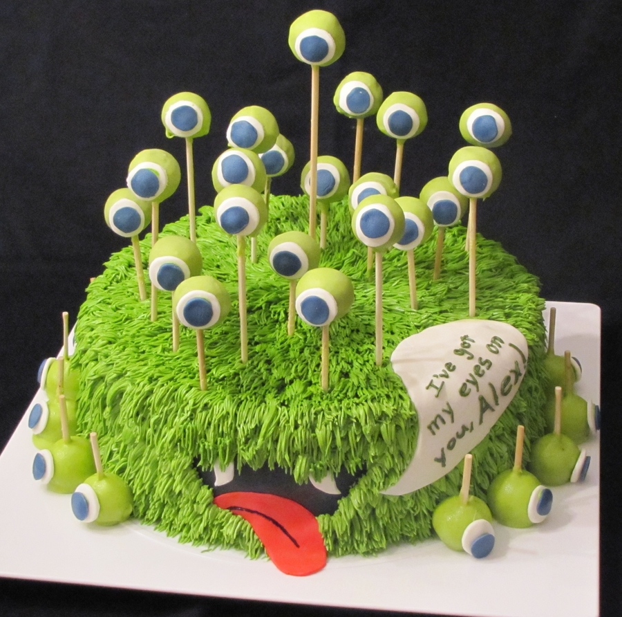 21St Monster Birthday Cake CakeCentralcom