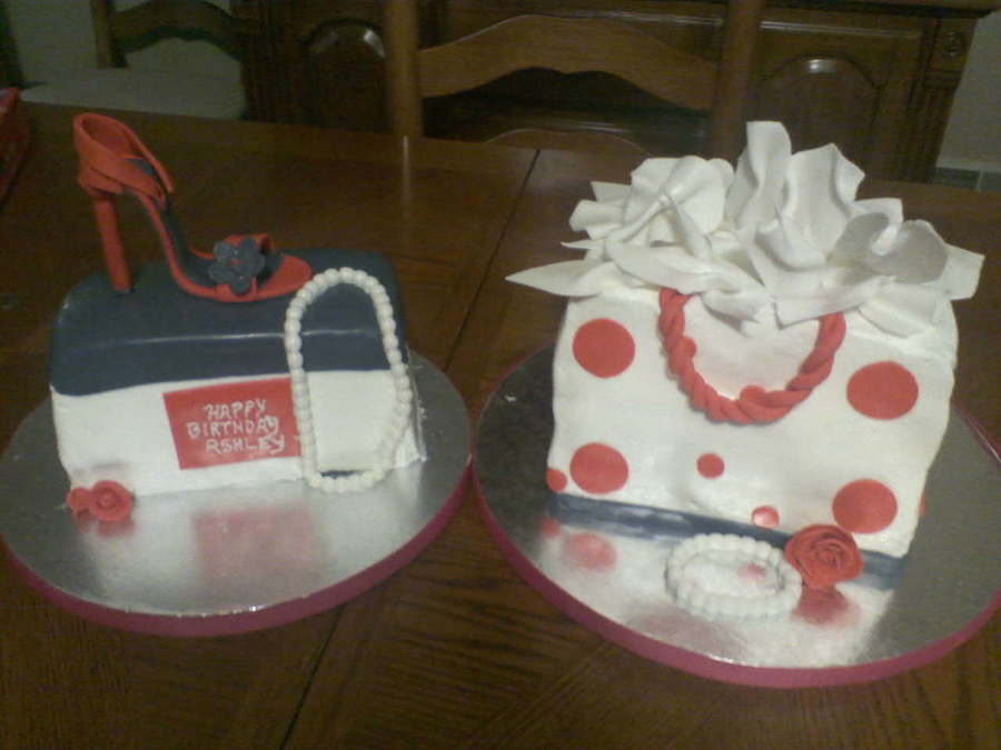 Shopping Bag And Shoe Box on Cake Central