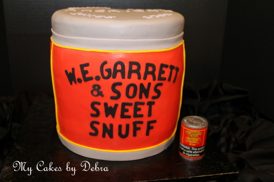 Snuff Can Birthday Cake on Cake Central
