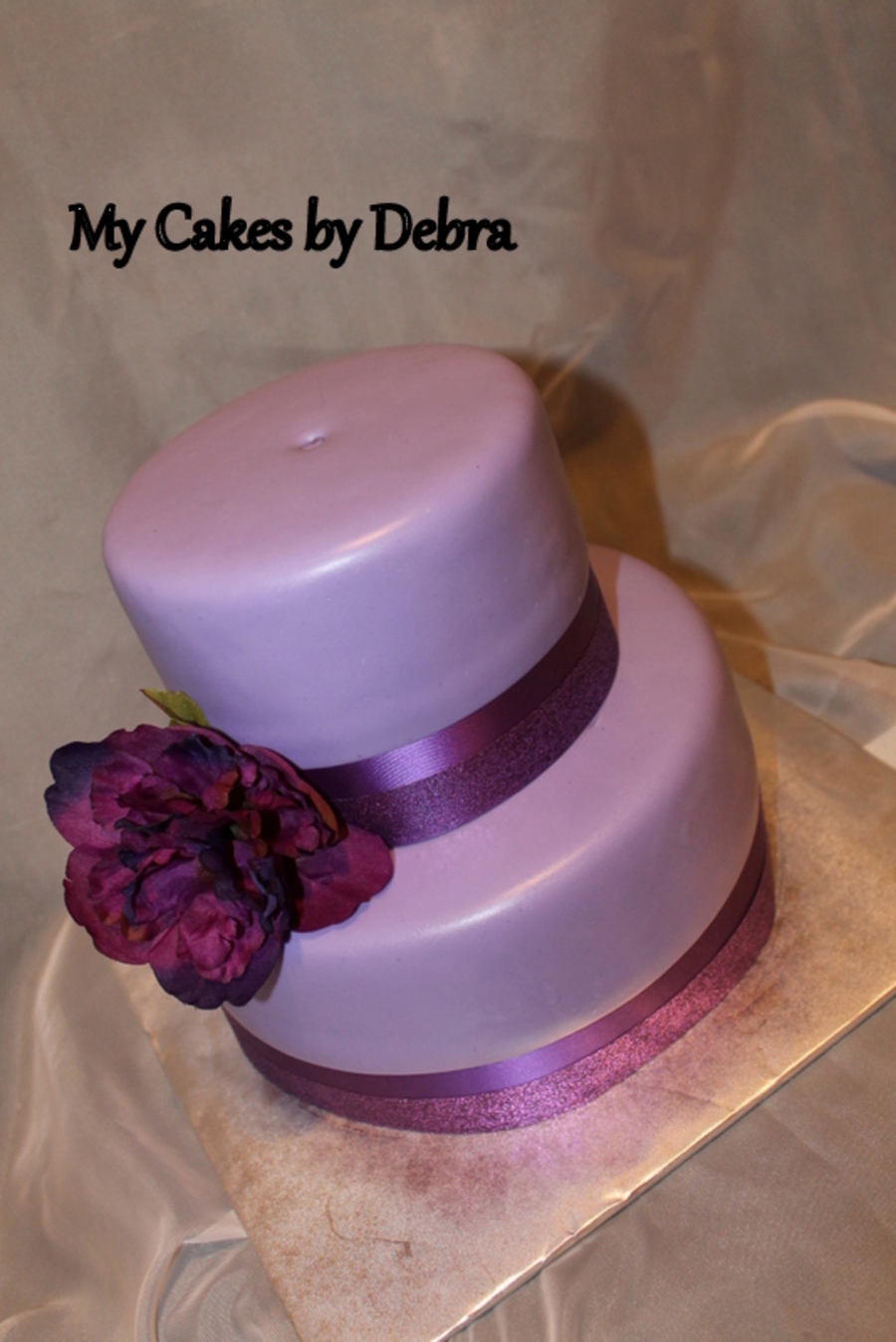 Simple Purple Birthday Cake on Cake Central