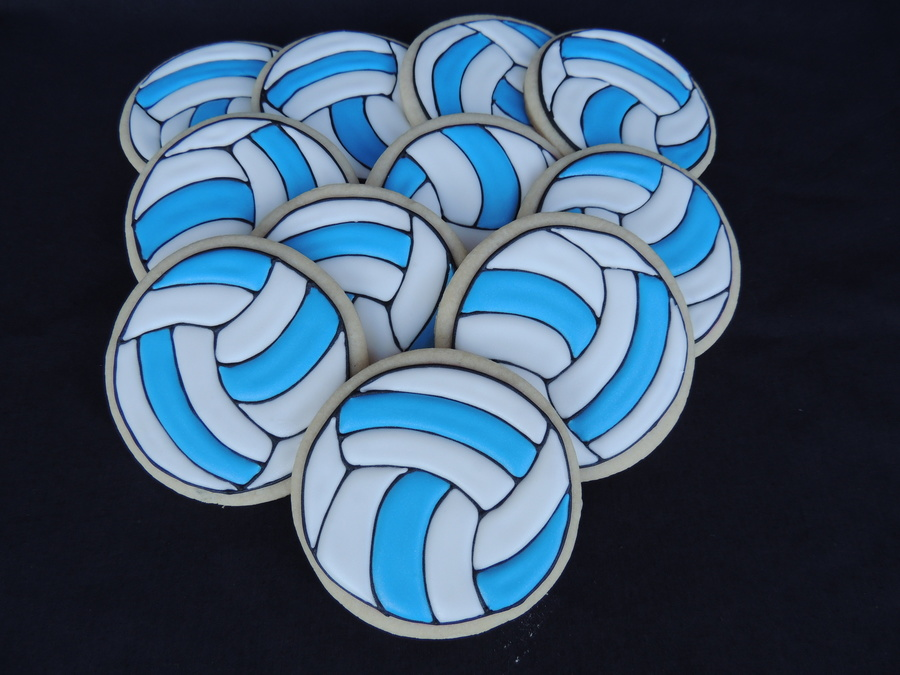 Volleyball Cookies on Cake Central