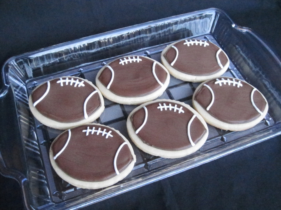 Football Cookies  on Cake Central