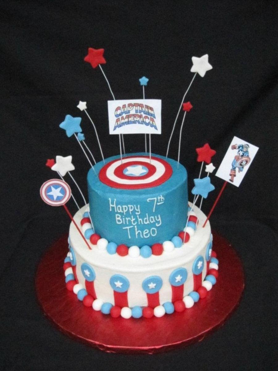 Captain America Cake CakeCentralcom