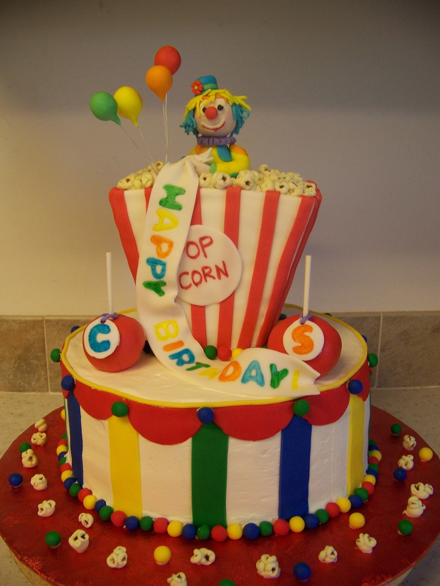 Clown Birthday Cake on Cake Central