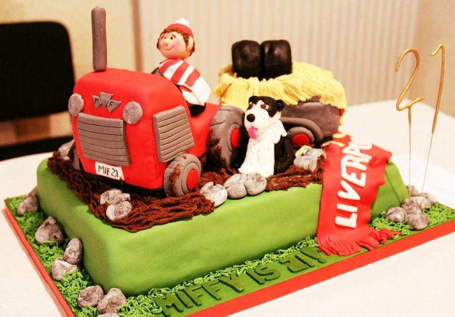 Brilliant 21St Birthday Tractor Cake Cakecentral Com Funny Birthday Cards Online Unhofree Goldxyz