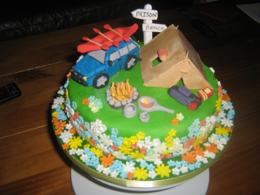 Camping Holiday on Cake Central