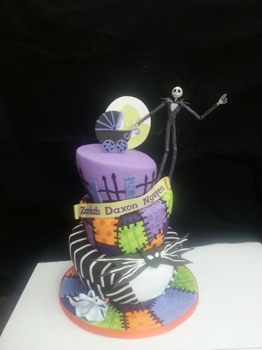 nightmare before christmas baby shower cake on cake central
