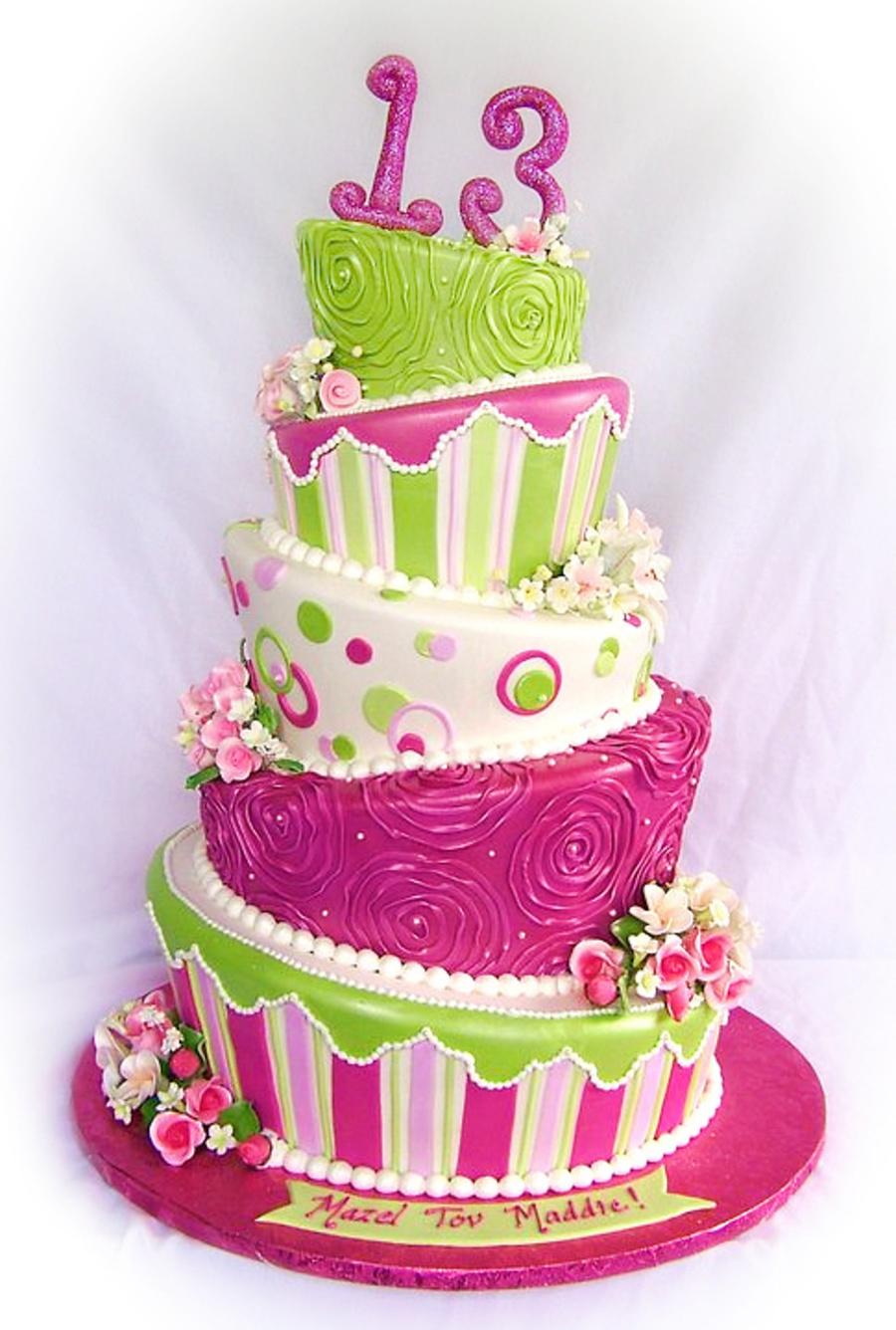 Topsy Turvy Cake Servings