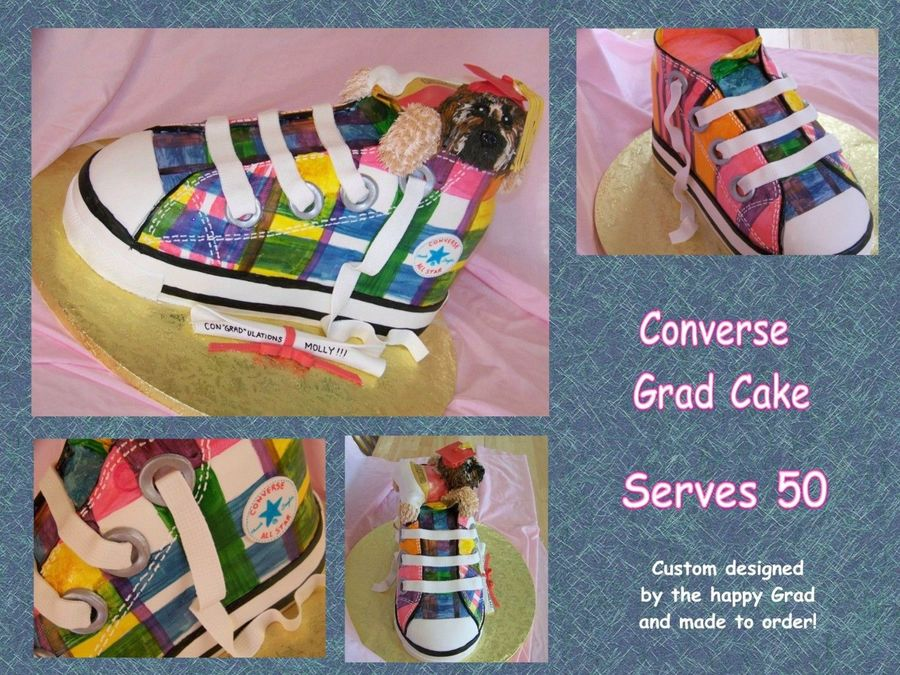 Converse Sneaker Shoe on Cake Central