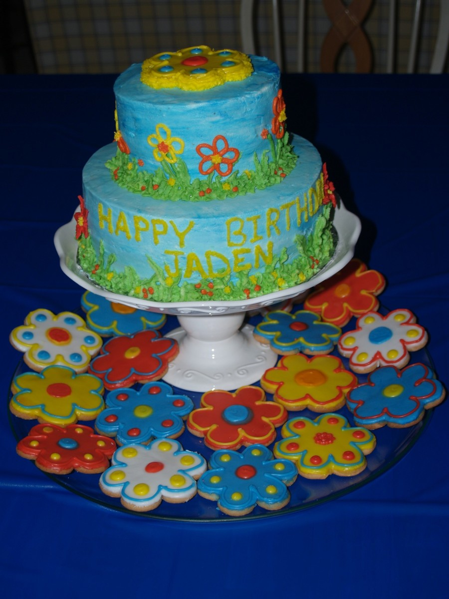 Flower Power Birthday  on Cake Central