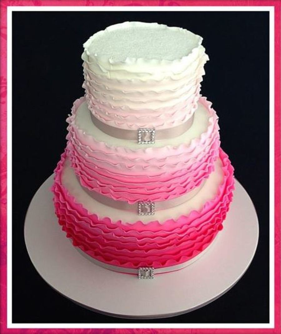 Ombre Ribbon Cake