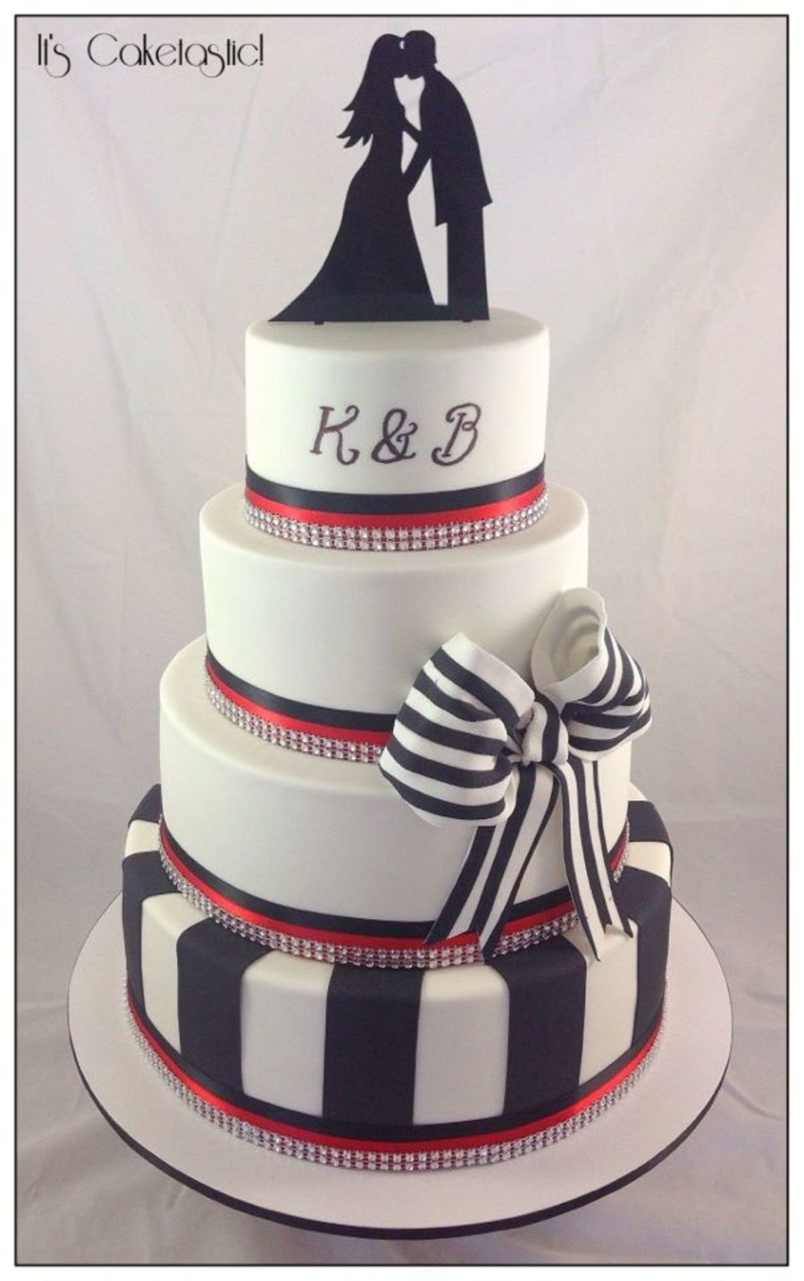 black white and red wedding cake. Black Bedroom Furniture Sets. Home Design Ideas