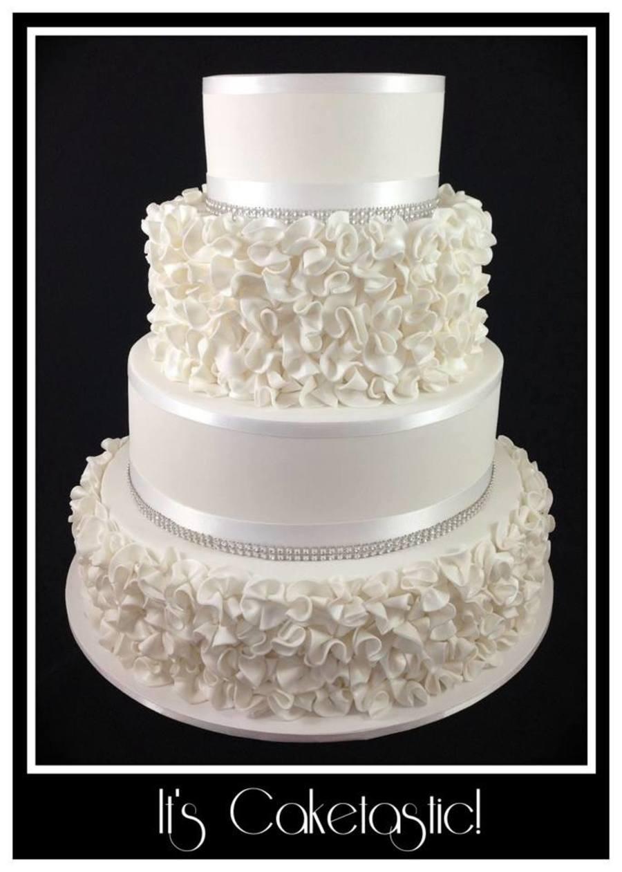 Ruffle/scrunch Flower Cake - CakeCentral.com