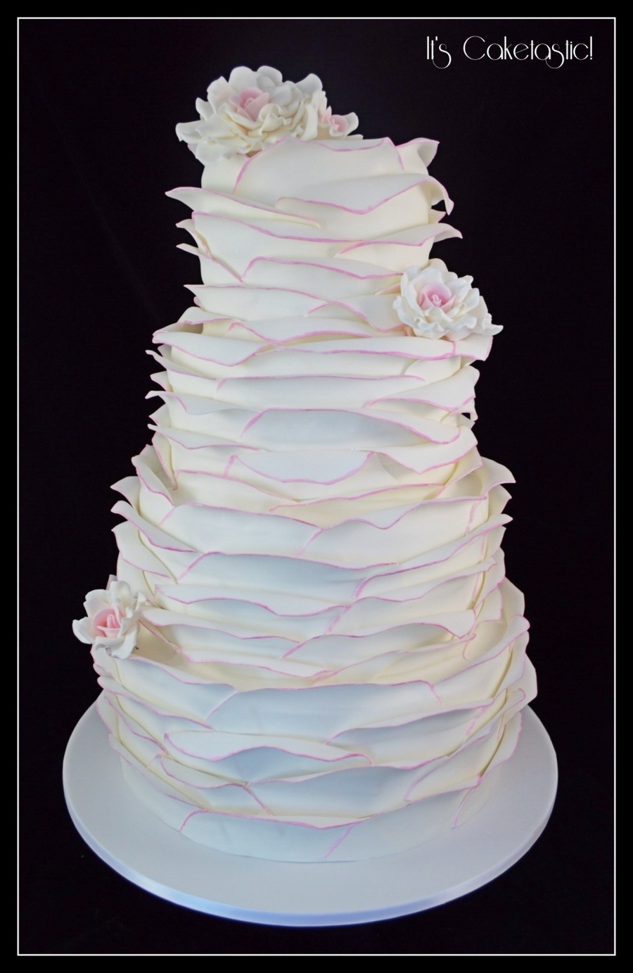 Large Ruffled Wedding Cake On Central