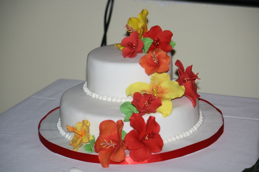hibiscus wedding cakes hibiscus wedding cake cakecentral 15222