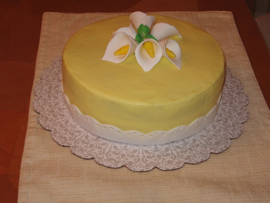 Calla Lily Cake on Cake Central