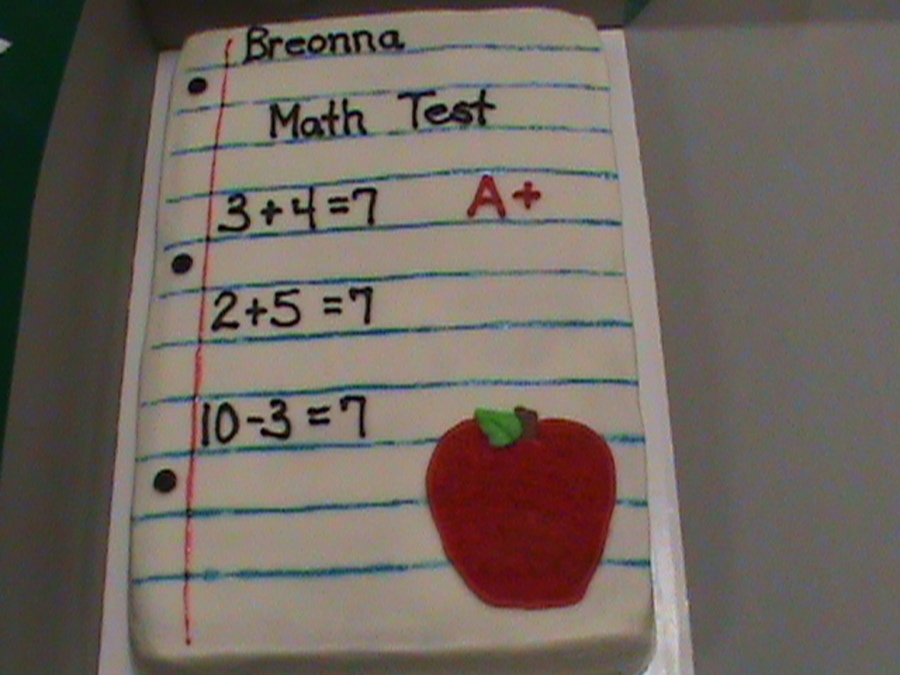 I Love Math! on Cake Central