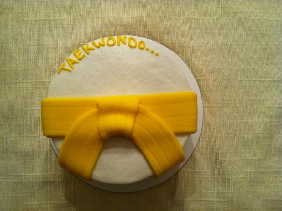Yellow Belt  on Cake Central