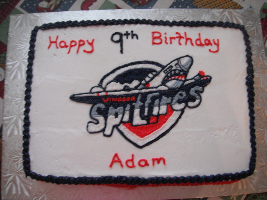Windsor Spitfires Hockey Team on Cake Central