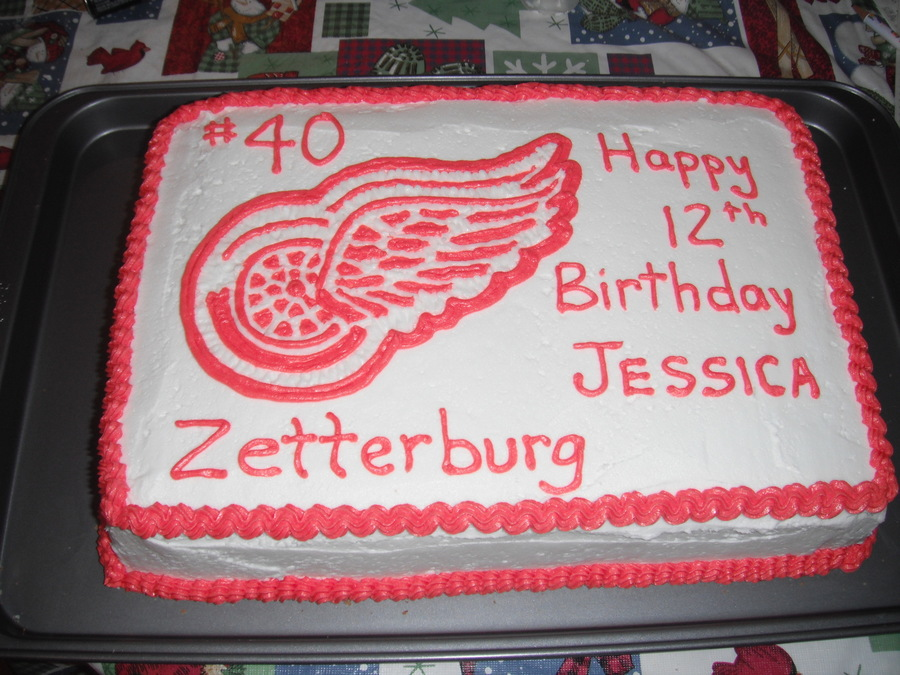 Detroit Red Wings #40 on Cake Central