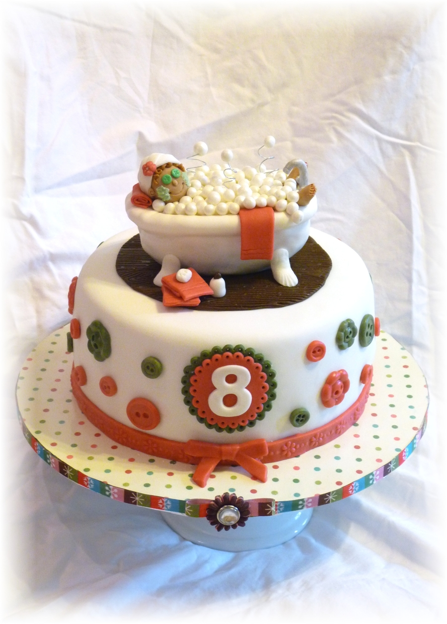 Spa Sleepover Birthday Cake Cakecentral