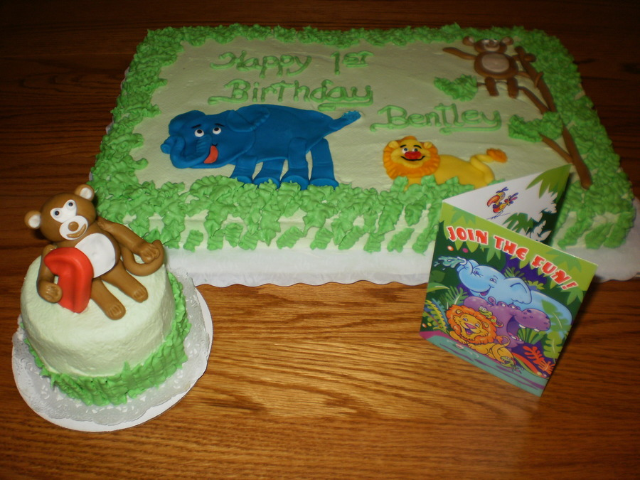 Jungle Birthday on Cake Central