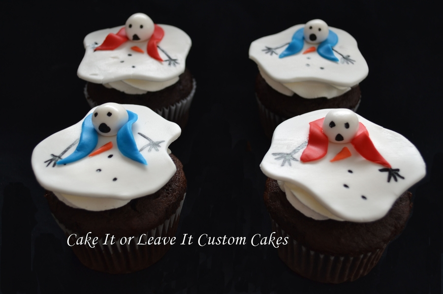 Melting Snowmen Cupcakes on Cake Central