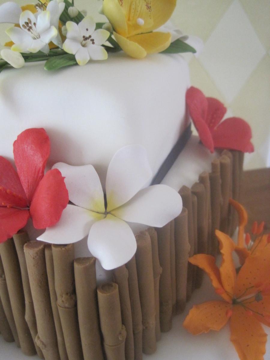 Tropical Flower Wedding Cake Cakecentral Com
