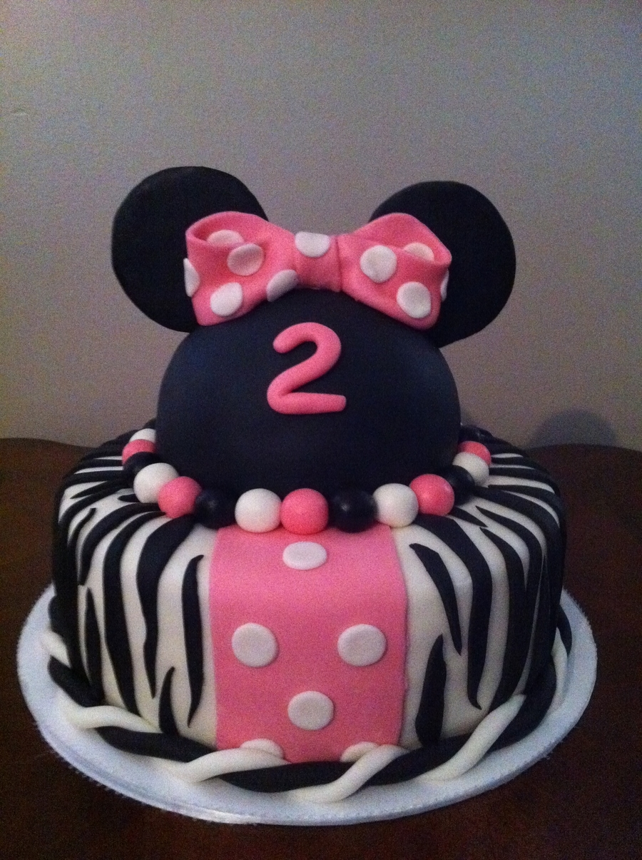 Minnie Mouse Zebra Cake on Cake Central