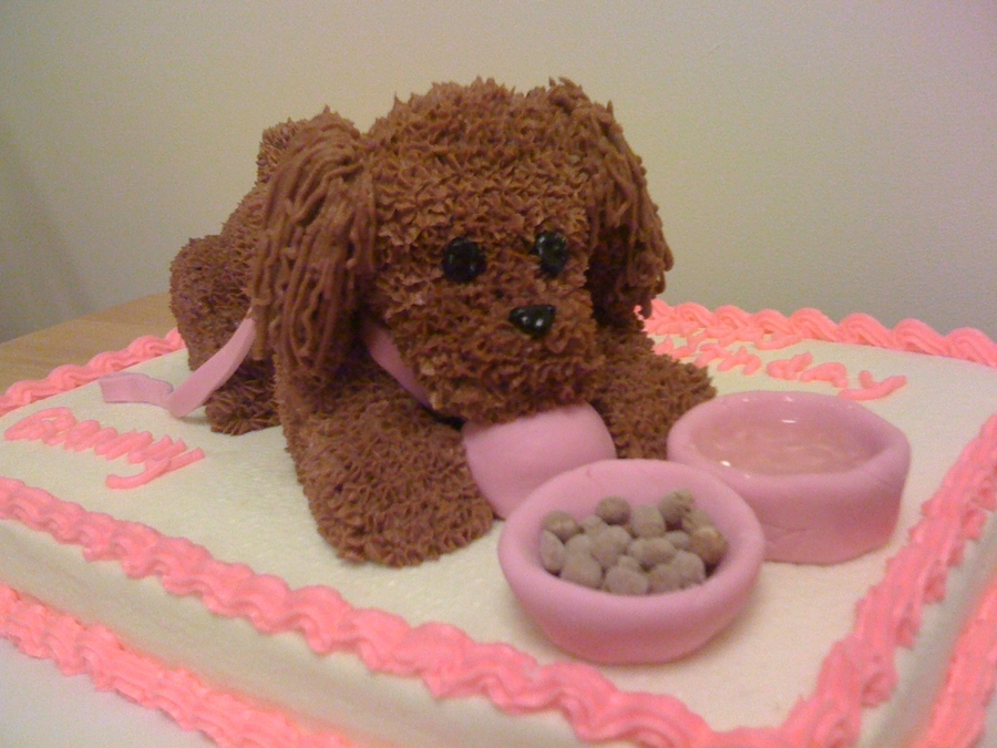 Toy Poodle Puppy 3 D Cake Cakecentral Com