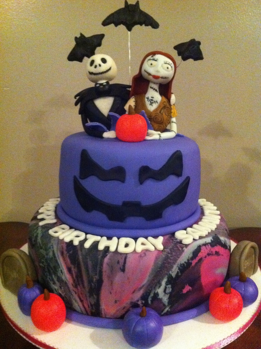 Jack Skellington And Sally  on Cake Central