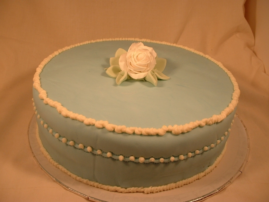 Blue Mothers Day Cake on Cake Central