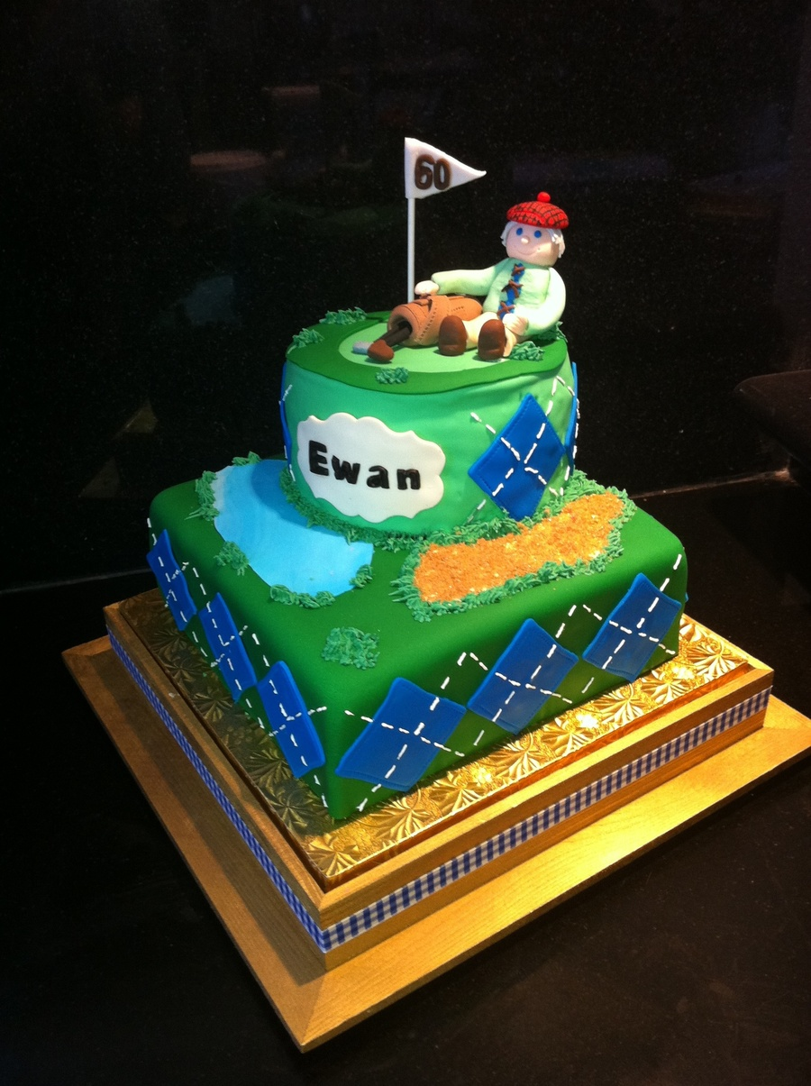 Amazing Golf Course 60Th Birthday Cake Cakecentral Com Funny Birthday Cards Online Eattedamsfinfo