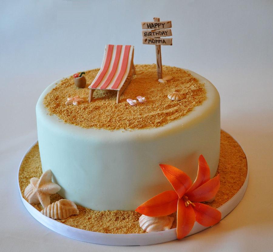 Beach Theme Birthday Cake Cakecentral