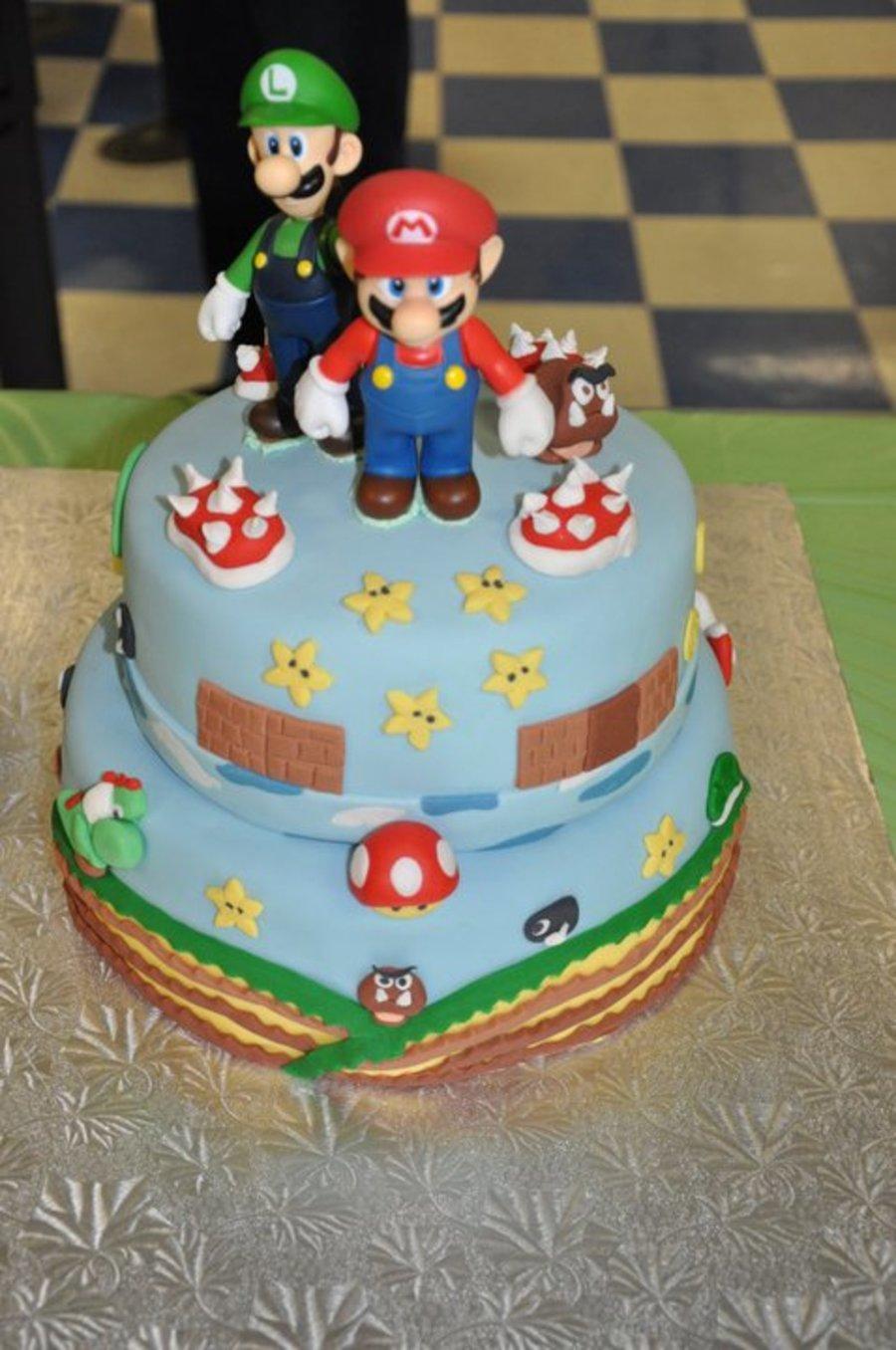Mario Bros Cake Mario And Luigi Cake Cakecentral Com