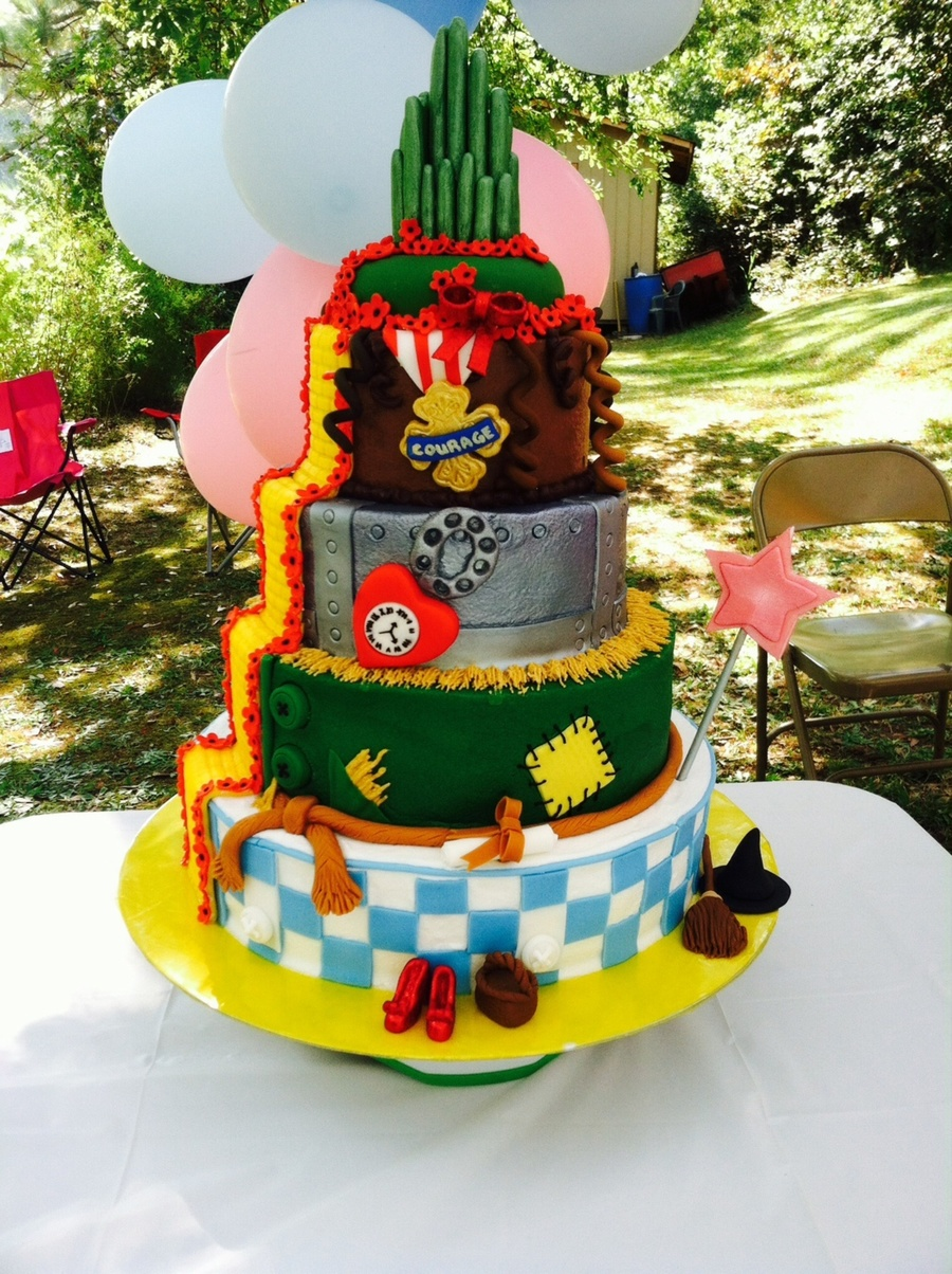 Wizard Of Oz Cake I Made For A Little Girls First Bday I