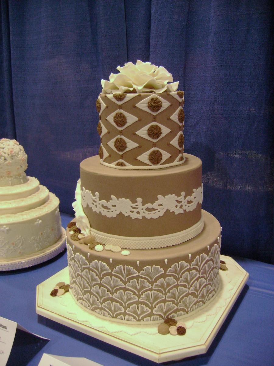 Taupe Wedding Cake Cakecentral Com