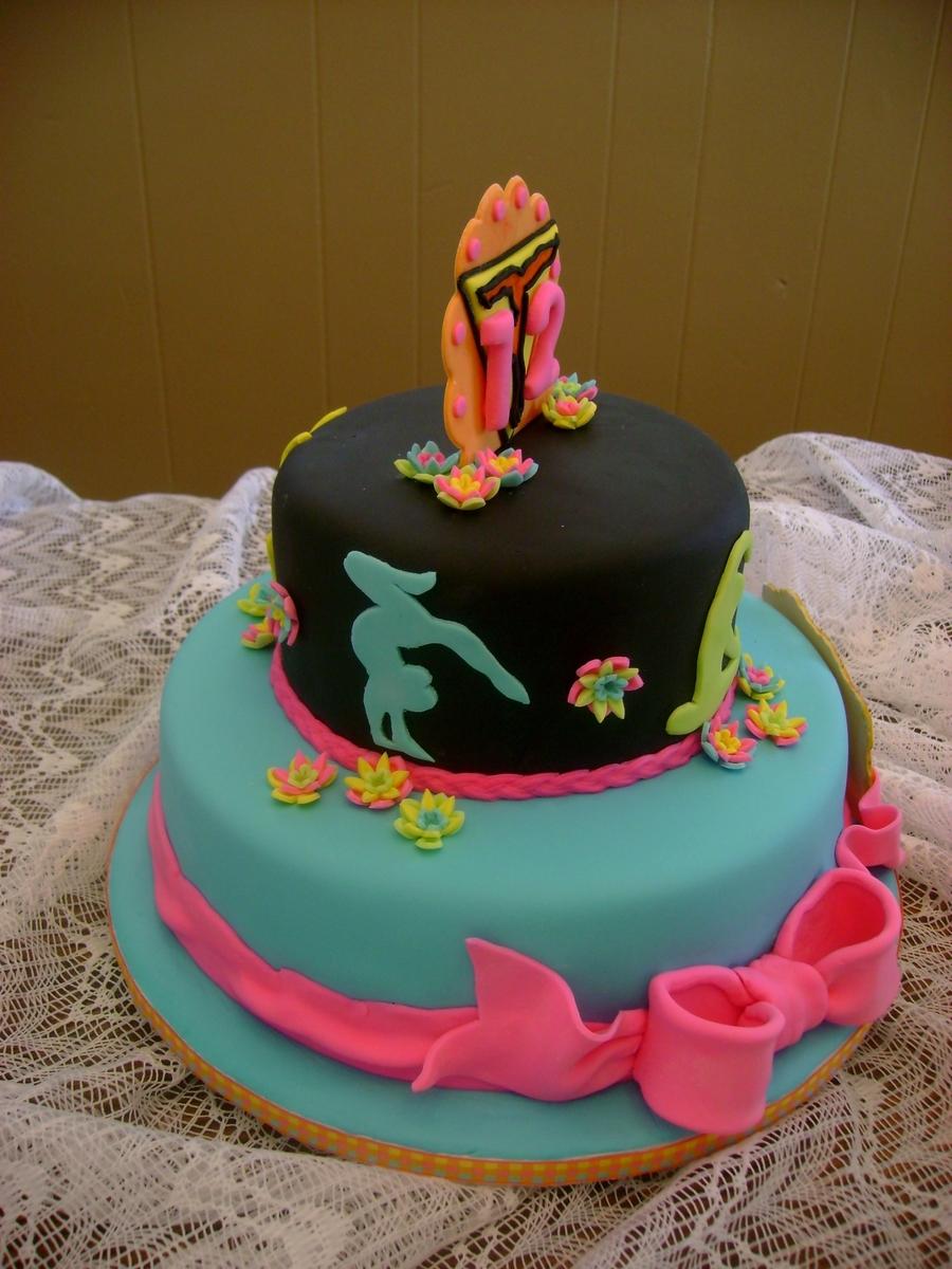 Gymnastics Birthday Cake Topper Tutorial