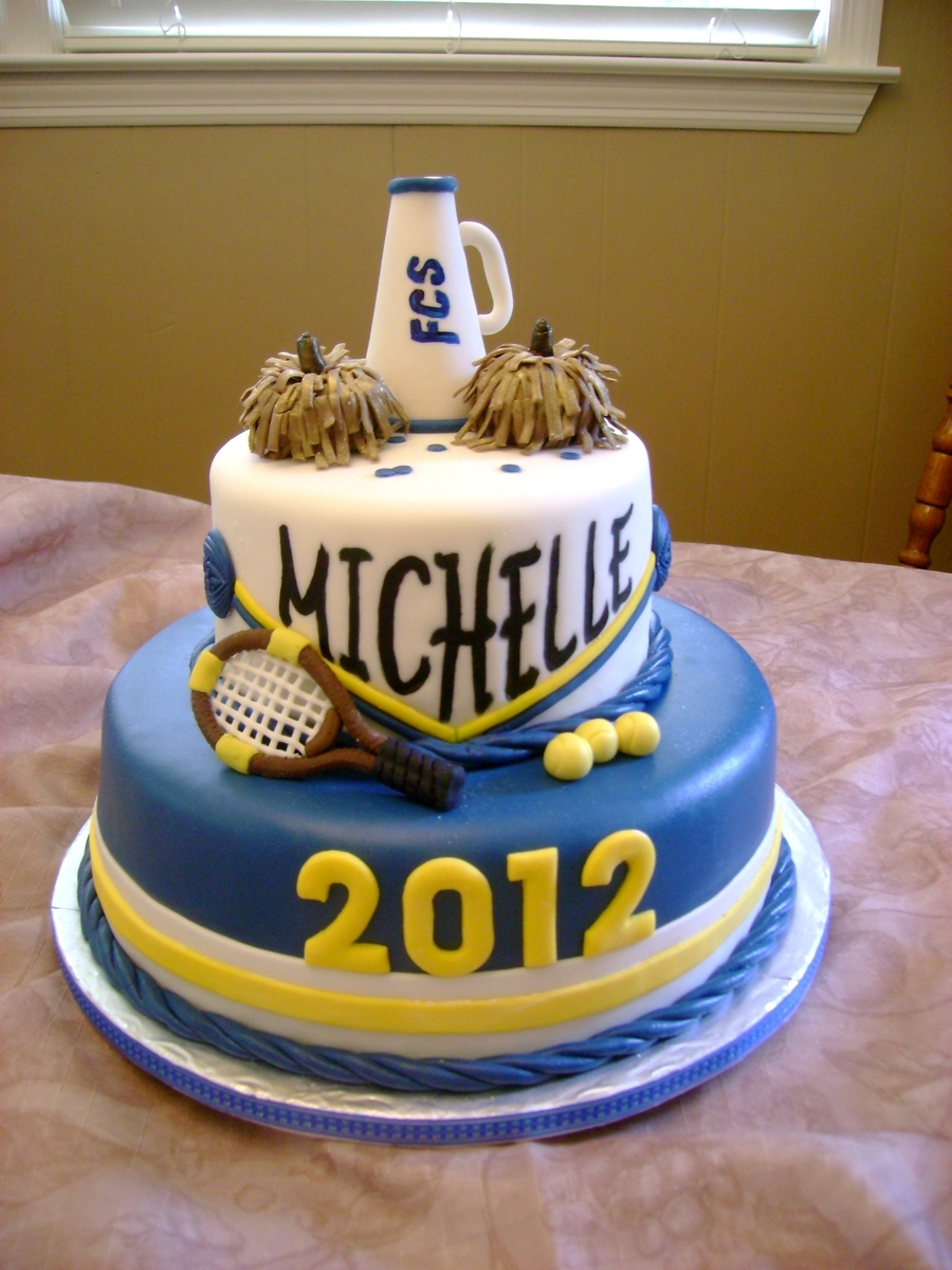 Cheerleader And Graduation Cake Cakecentral Com