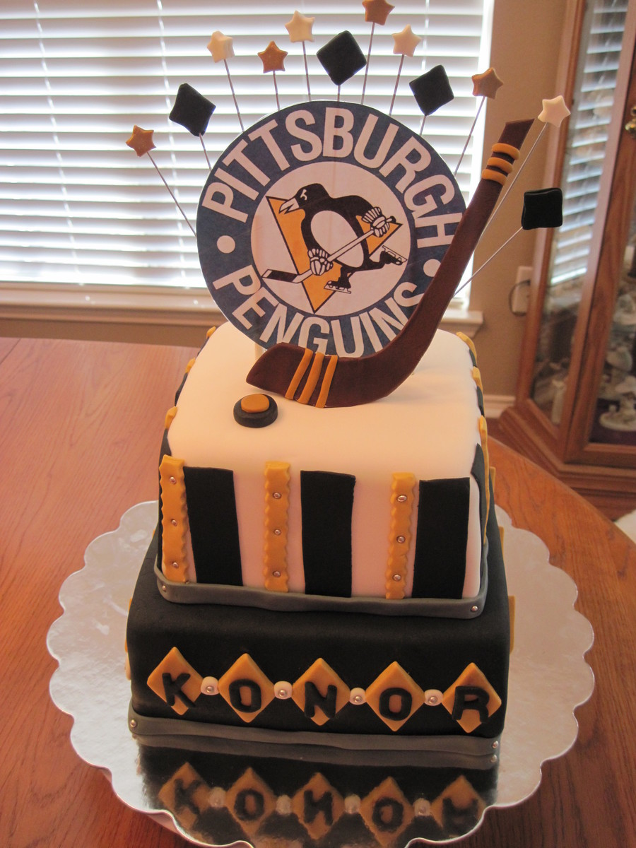 Pittsburg Penguins Hockey Birthday Cake CakeCentralcom