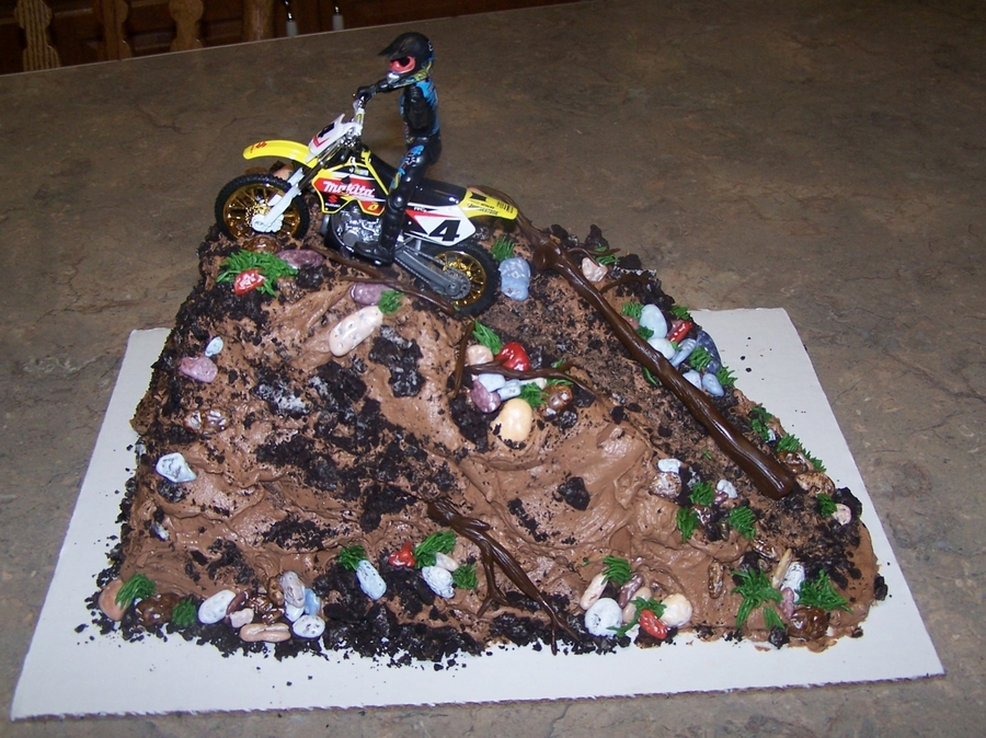 Dirtbike Cake on Cake Central