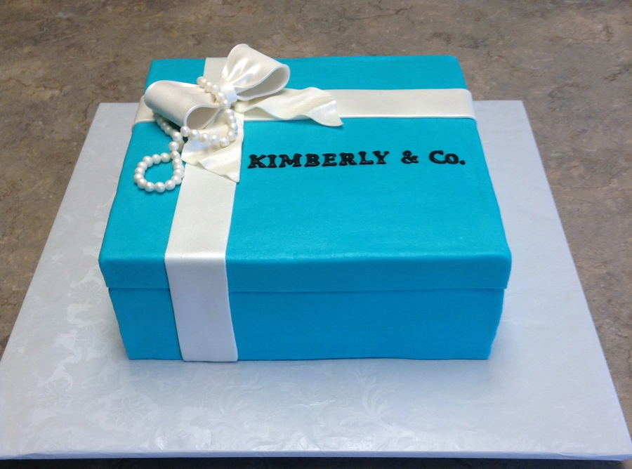 tiffany amp co bridal shower cake frosted with buttercream no fondant pearls bow amp ribbon are