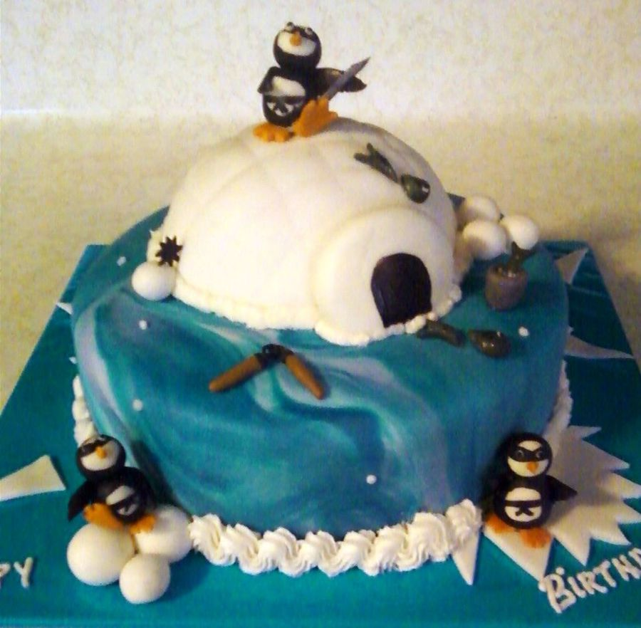 Ninja Penguins on Cake Central