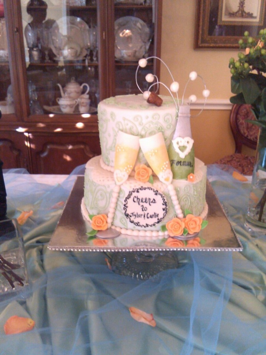 Cheers To Bride And Groom To Be on Cake Central