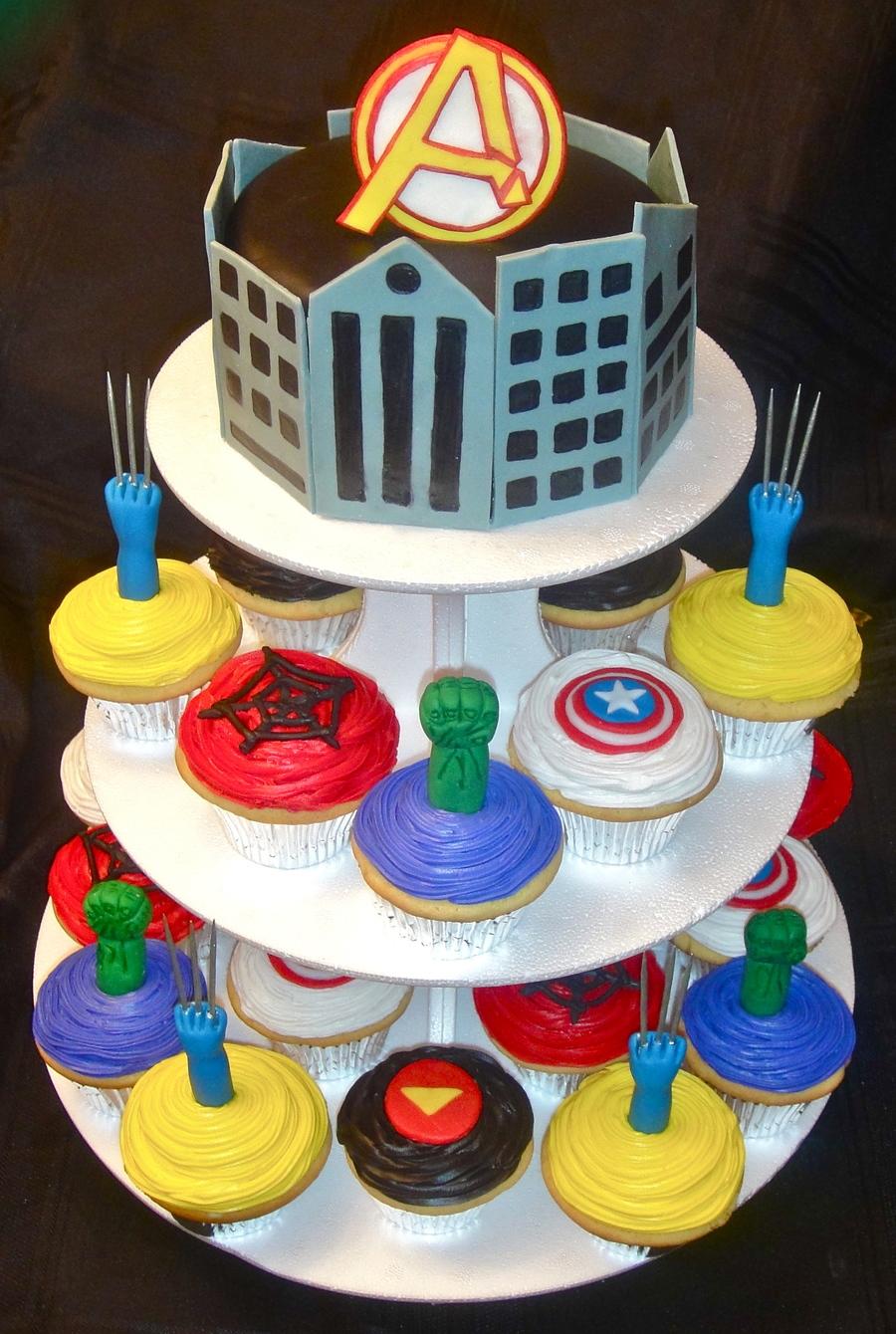 Avengers Cake Tower - CakeCentral.com