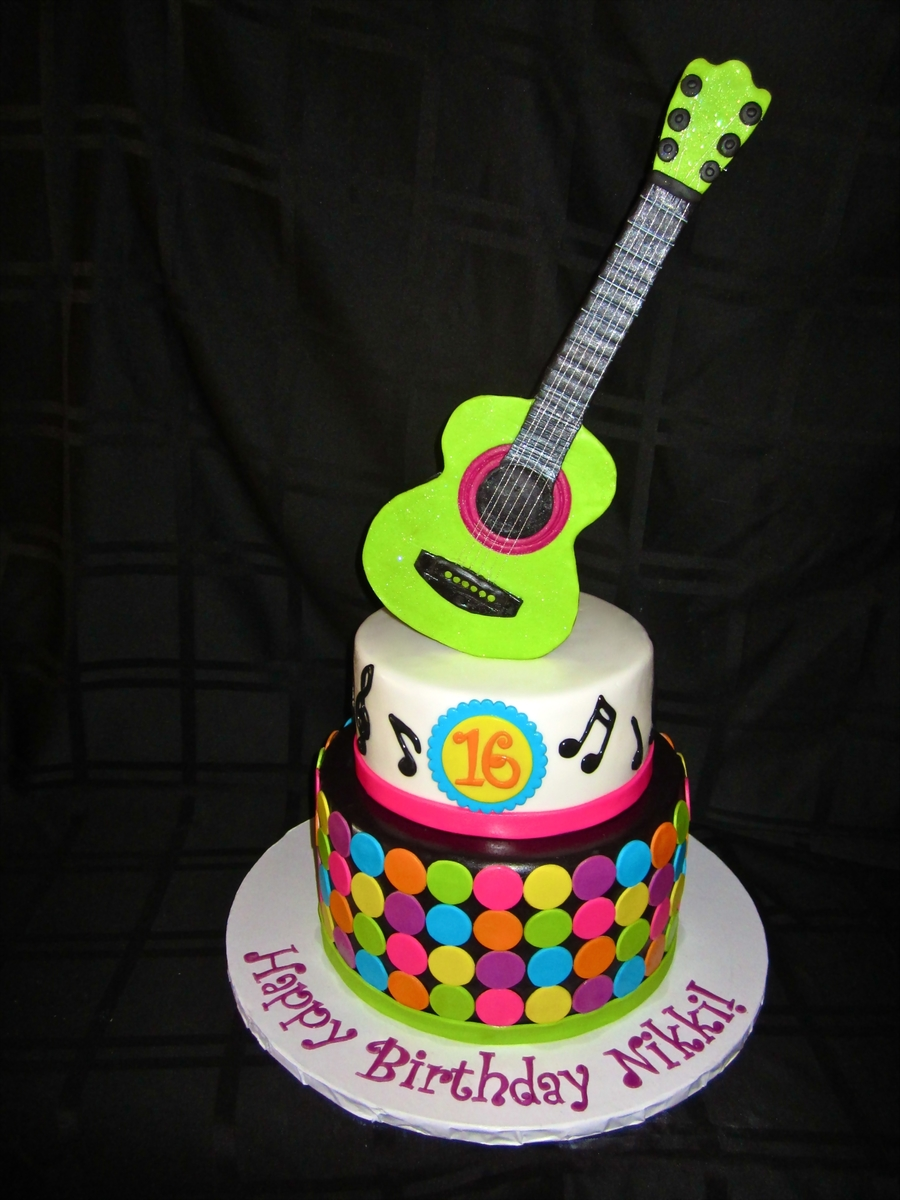 Sweet 16 Rock Star Cake! on Cake Central