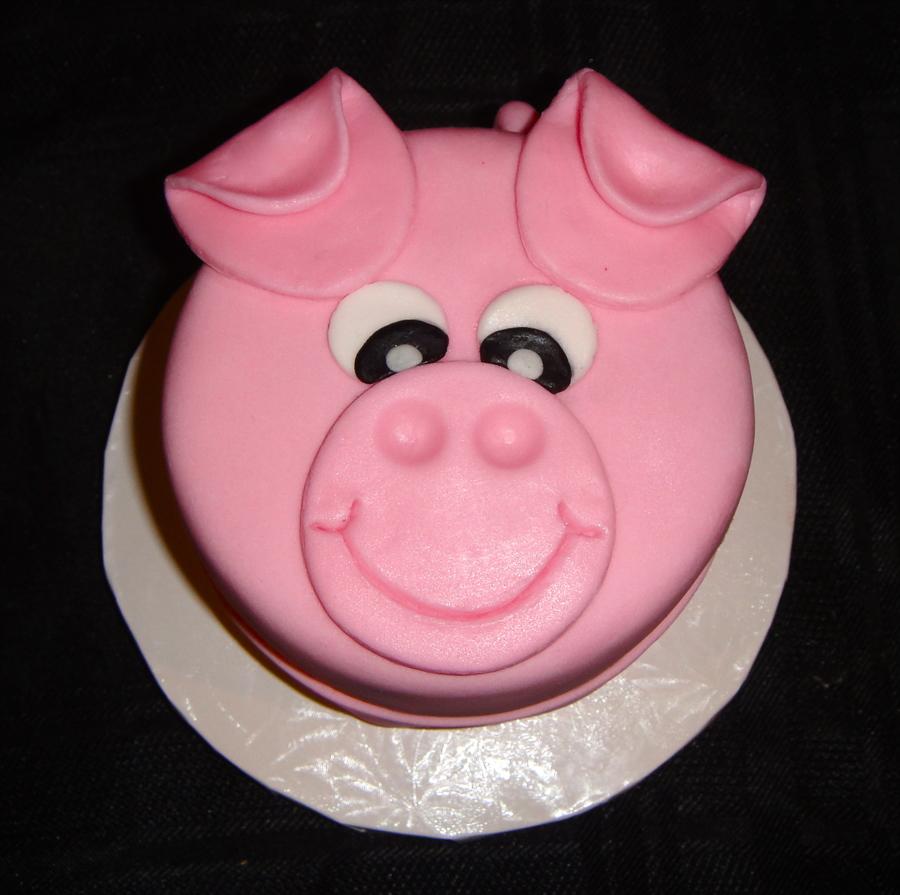 Pink Pig Birthday Cake