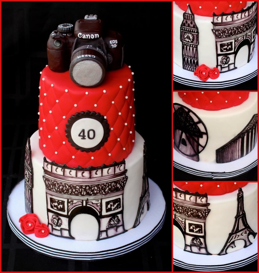 World Traveler Cake Hand Painted Monuments Cakecentral Com