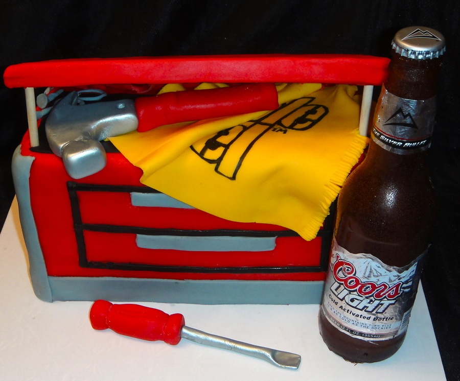 Toolbox Groom's Cake on Cake Central